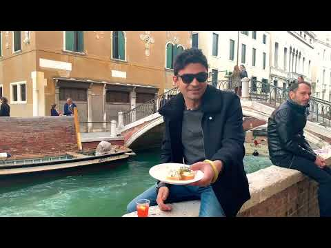 Italian Street Food Cicchetti | Sit On Venice Canal And Eat Cicchetti In Venice Italy