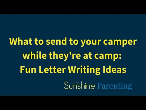 graphic about Printable Fill in the Blank Camp Letters identified as 5 Enjoyment Programs for Letters in direction of Campers Solar Parenting