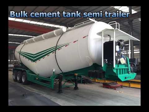 Bulk cement tanker semi trailer with BPW axle,cement bulker trailer for sale