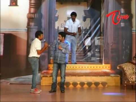 S.S.Raja Mouli - Jr NTR - Funny Scene @ Maryada Ramanna - Audio Release