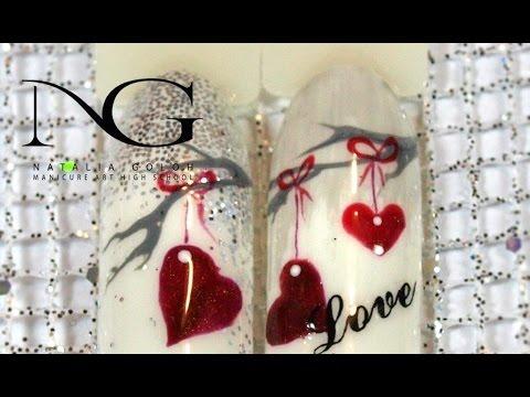 Романтика на ногтях: маникюр на День Валентина / Nail art for Valentines Day