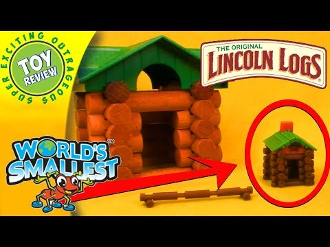 World's Smallest Lincoln Logs By Super Impulse - SEO Toy Review