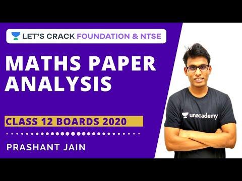 CBSE Class 12 Code 3 2020 Solutions | Maths Question Paper Analysis | CBSE Board Exam 2020