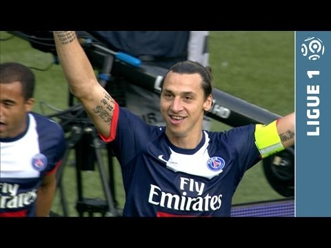 Fantastique but du talon Zlatan IBRAHIMOVIC (10') - Paris Saint-Germain - SC Bastia (4-0 - 2013/2014