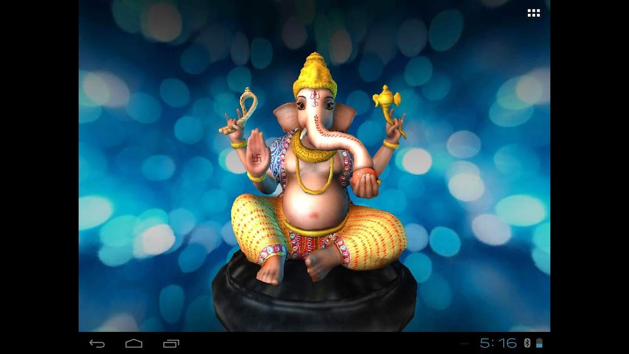 ganesh s free animated 3d mobile app live wallpaper youtube