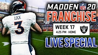 [Live Special] Year 1 Finale + Offseason Preview - Madden 20 Franchise (Y1:G16)