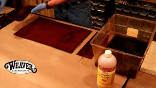 Making a Leather Journal Cover Chapter 5: Adding Dye and Finish to a Journal Cover