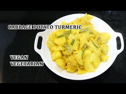 Vegan Recipes - Cabbage Potato Turmeric - Easy Vegetable Stew