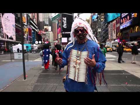 The Last American Indian on Earth is in Times Square