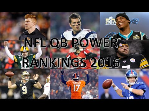 NFL starting QB rankings 2016