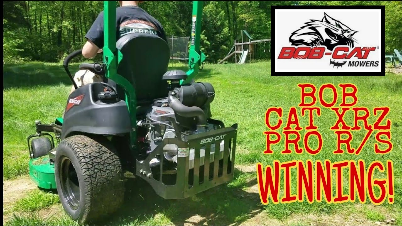 Bob Cat Xrz Pro RS Cutting Overgrown Thick Grass