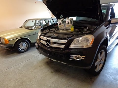 Diy x163 mercedes gl450 oil change and assyst oil service for Mercedes benz oil change service
