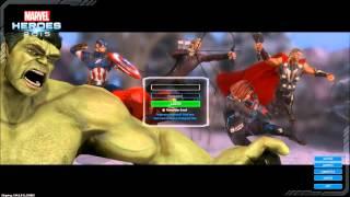 Marvel Heroes - Avengers Login Screen