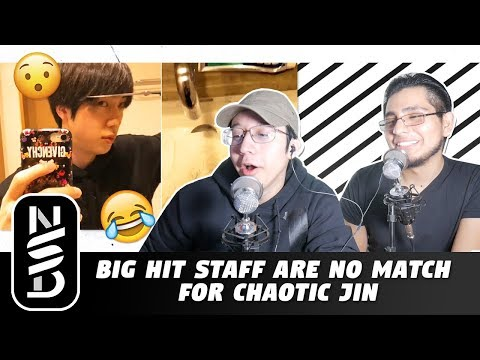 GUYS REACT TO 'Big Hit Staff Are No Match For Chaotic Jin'