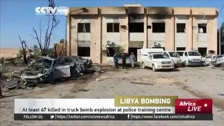 At least 47 killed in truck bomb explosion at police training centre in Libya
