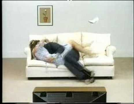 Sony trinitron advert youtube for Funny sofa pictures