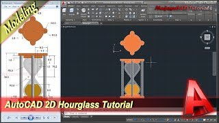 Autocad 2D Modeling Hourglass Design Tutorial Practice Exercise 31