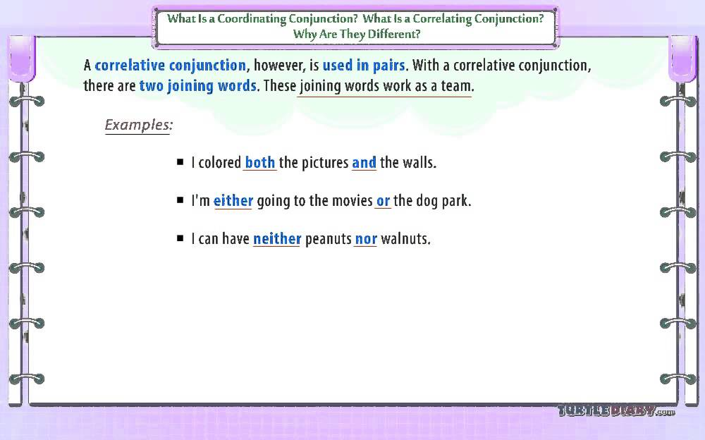 Coordinating Conjunction Vs Correlative Conjunction | Turtlediary ...