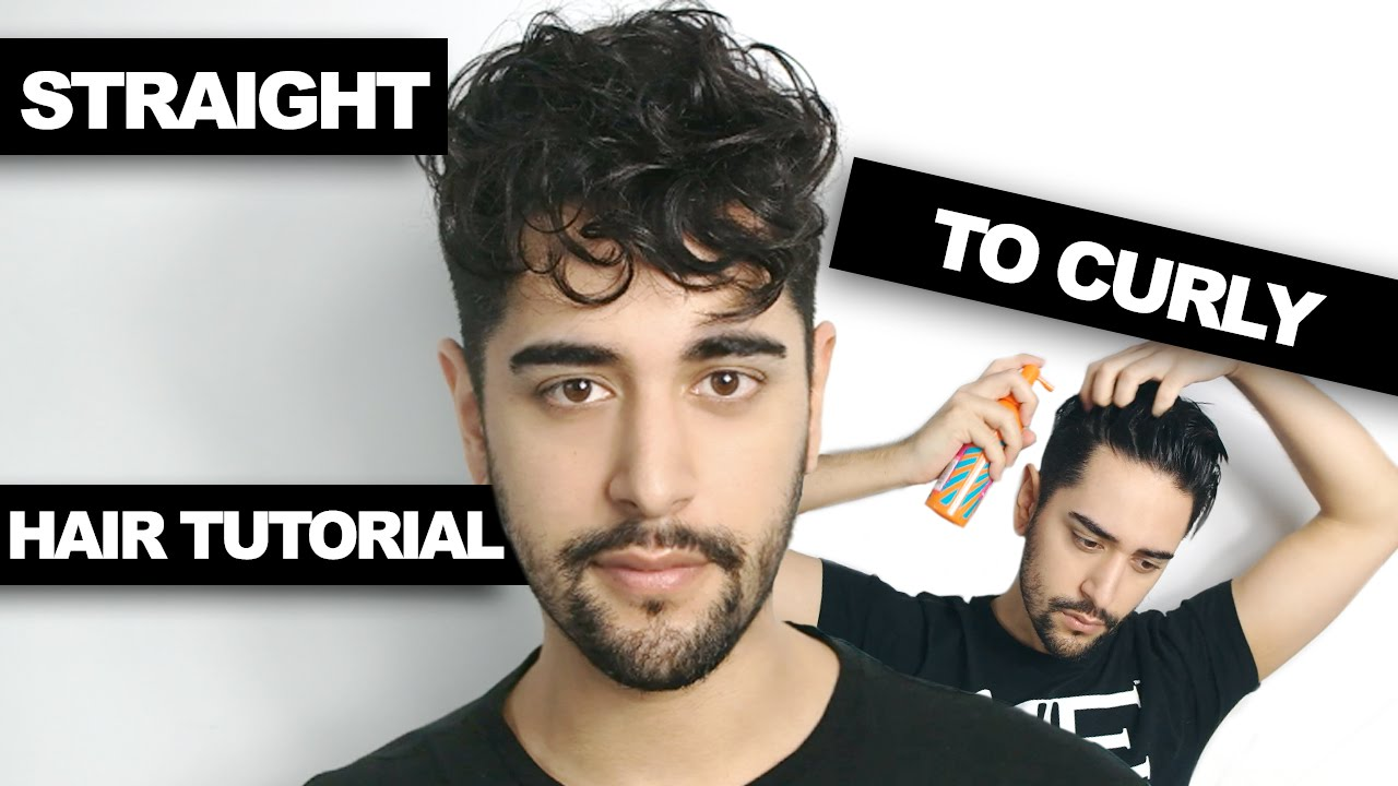 Straight To Curly Hair How To Get Curly Hair Men S Hair Tutorial