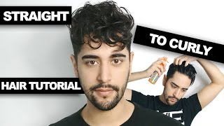 One of James Welsh's most viewed videos: Straight To Curly Hair - How To Get Curly Hair (Men's Hair Tutorial)  ✖ James Welsh
