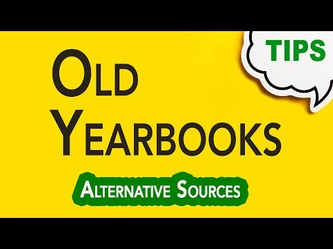 Searching Old Yearbooks   Genealogy Gold Podcast   GC-064