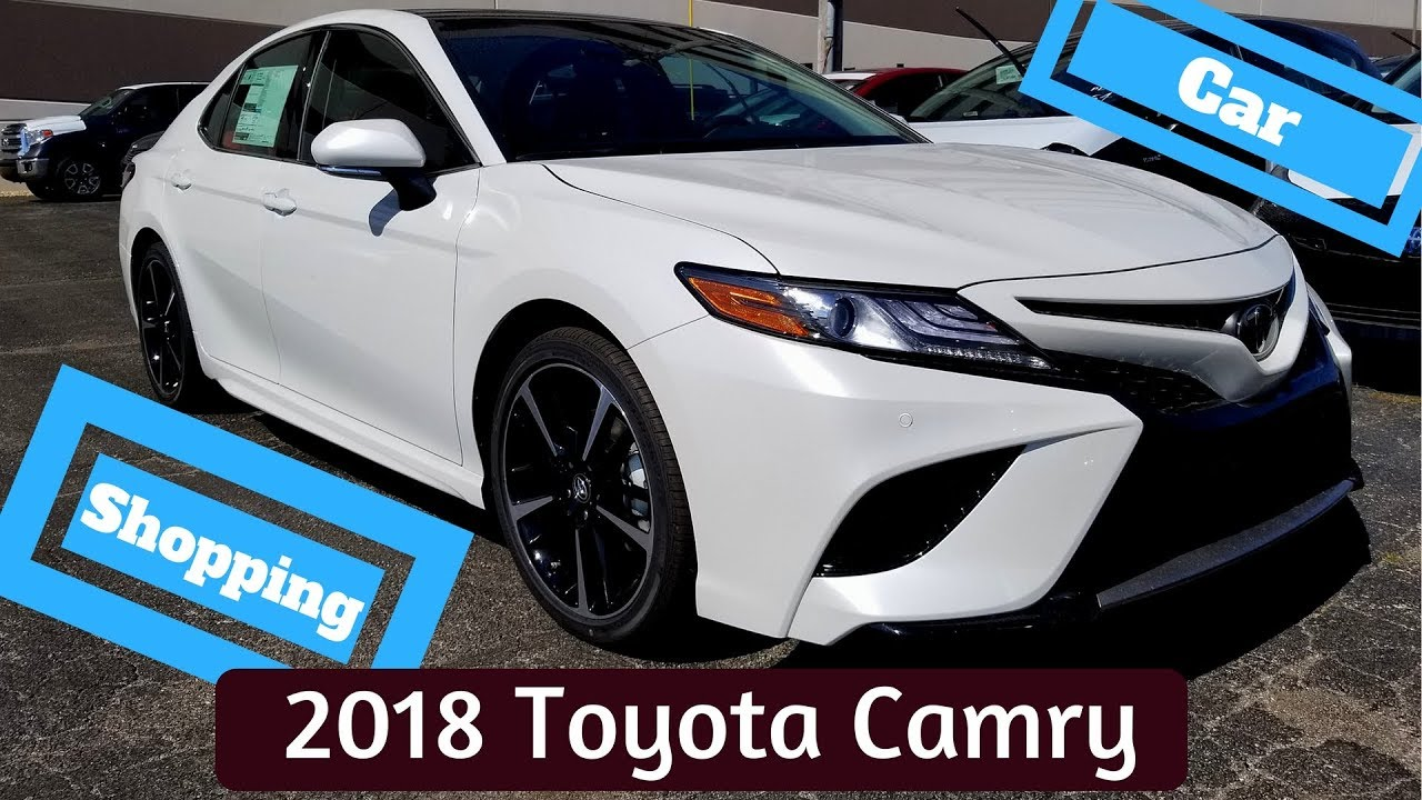Car Shopping 2018 Toyota Camry Xse Red Leather Interior Youtube