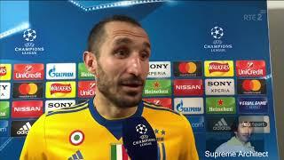 Giorgio Chiellini Post Match Interview Tottenham 1-2 Juventus
