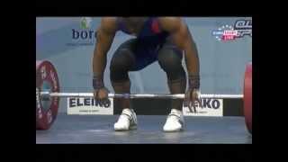 Men 69 kg clean & jerk European Weightlifting Championships Tirana 2013