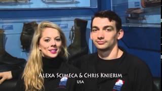 Alexa Scimeca & Chris Knierim name pronunciation