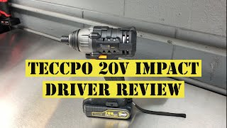 Teccpo 20v Impact Driver Review