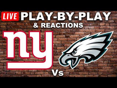 New York Giants vs Philadelphia Eagles Live Play-By-Play