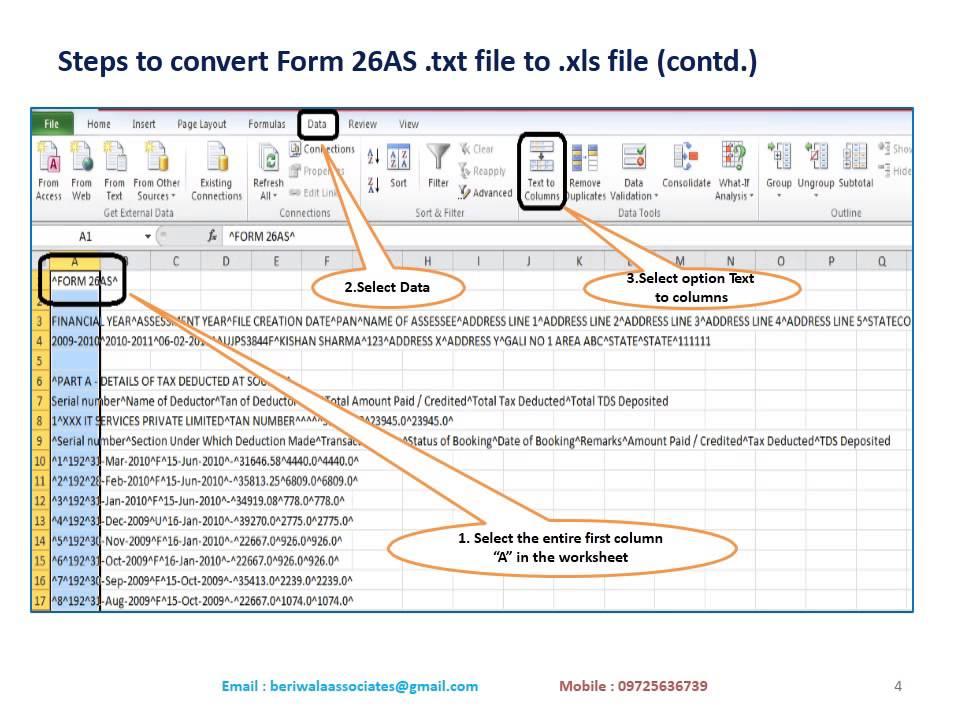 Form 26as Pdf Format