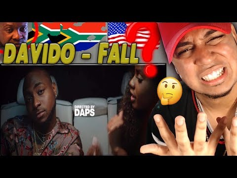 AMERICAN FIRST REACTION to Ghana music Davido - Fall Reaction Nigerian Rap Afrobeat Olamide, Mr eazi