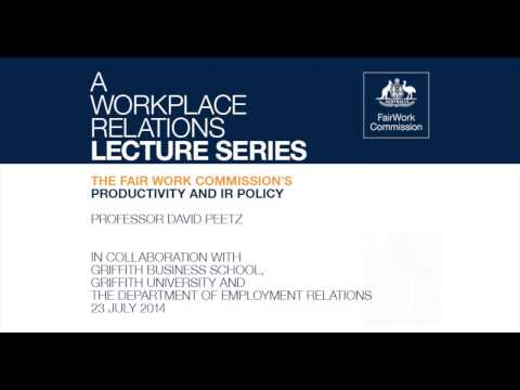 Productivity and Industrial Relations Policy