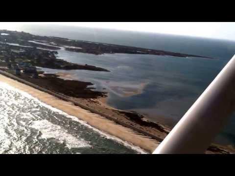 Honeymoon flight over Cape Hatteras