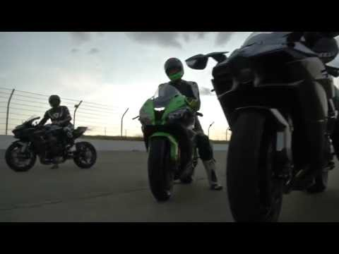 Kawasaki H2r Vs H2 Vs Zx10r Drag Race Youtube
