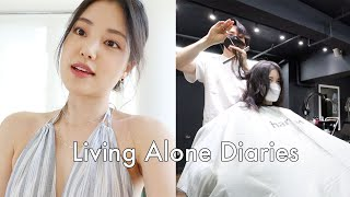 Living Alone Diaries | Productive weekend, New hair, Workout classes,Try-on haul!