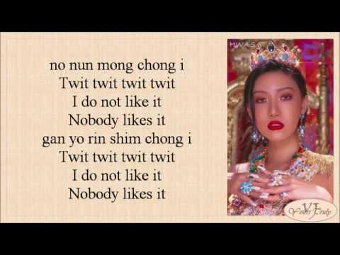 Hwasa (화사) – Twit (멍청이) Easy Lyrics
