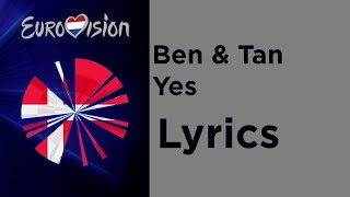 Ben & Tan - Yes (Lyrics) Denmark 🇩🇰 Eurovision 2020