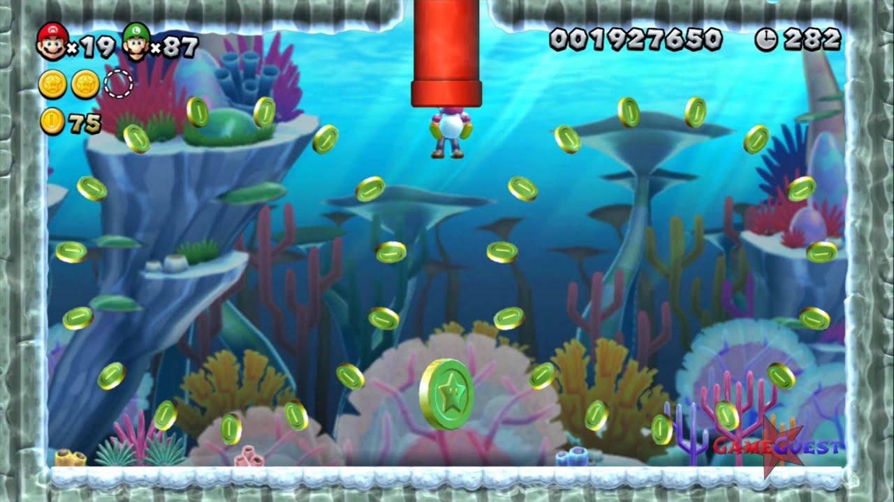 New Super Mario Bros U World Sparkling Waters 5 Dragoneel S