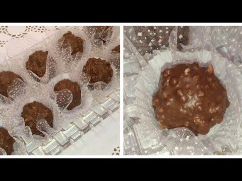 حلويات عيد الفطر 2020 حلوى فيريرو روشيه ب3 مكونات فقط G teau Ferrero Rocher