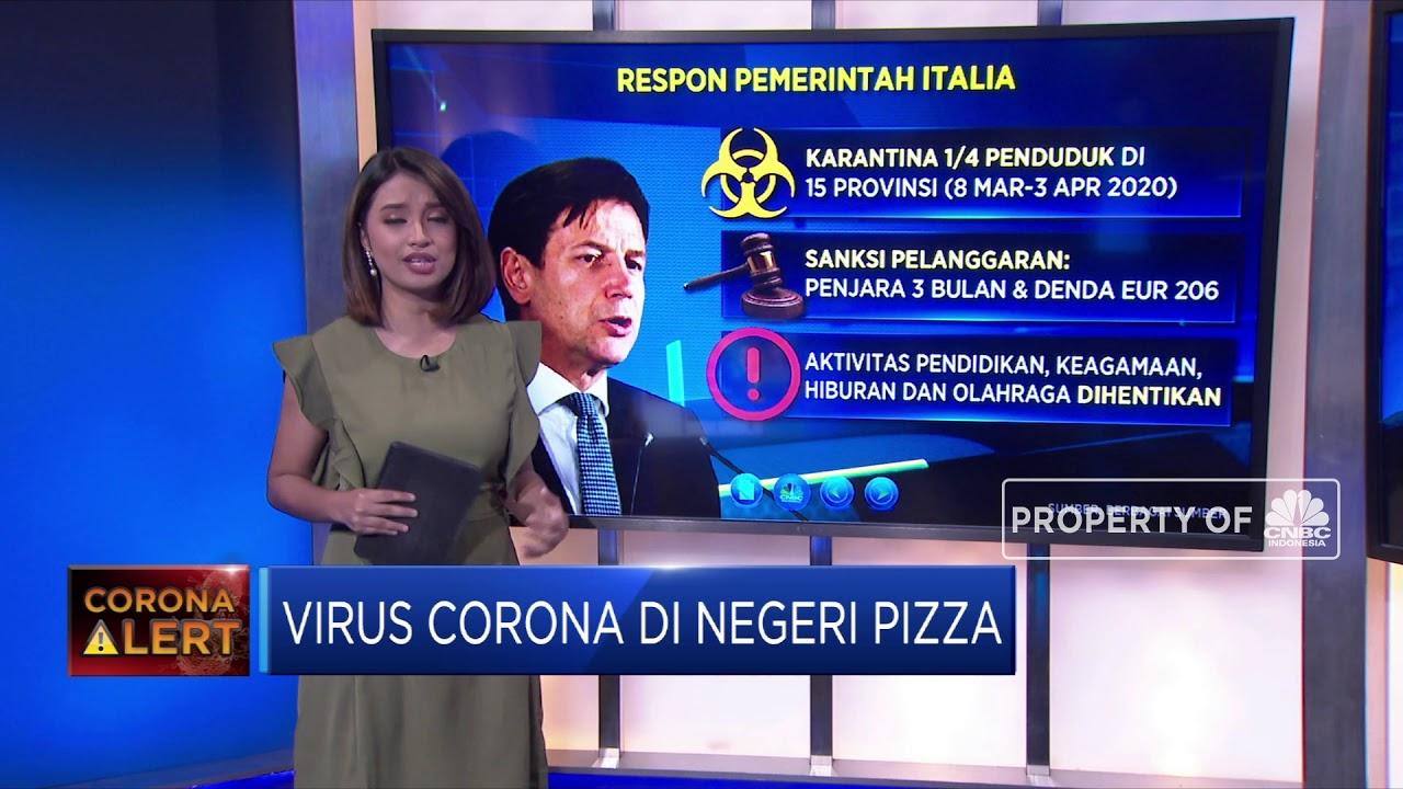 Virus Corona Mengganas di Negeri Pizza