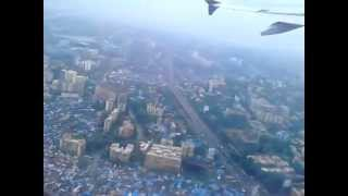 Go air takeoff from Mumbai in rain
