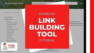 SEMrush Link Building Tool Tutorial, Outreach Using SEMRush for Links