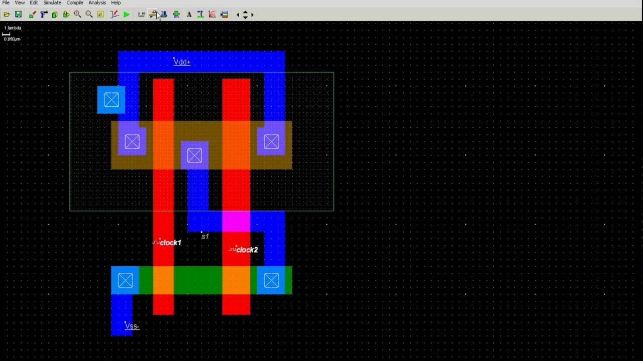 How To Draw 2 Input Nand Gate Layout In Microwind