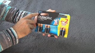 unboxing and test of Duracell Turbo Max AAA 4 Batteries with PowerCheck