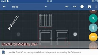 GnaCAD Design 2D Simple Chair Modeling Tutorial
