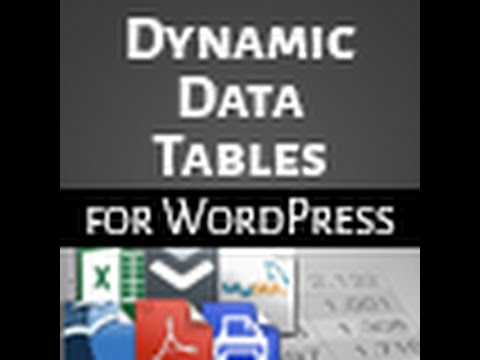 WP Dynamic Tables Demo(Import Tables From Excel, CSV, MySQL, Open Office And More)