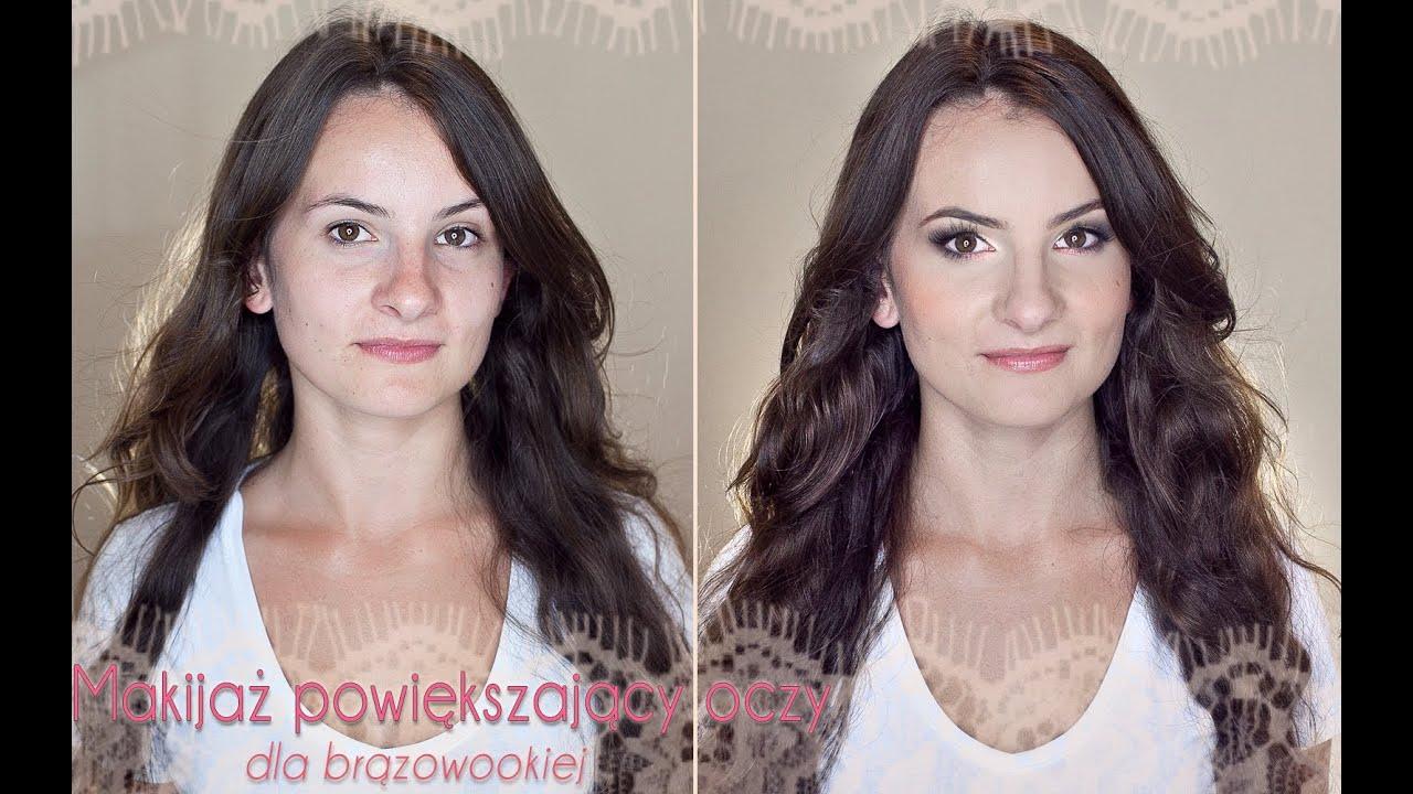 Makijaż Powiększający Oczy Dla Brązowookich Youtube