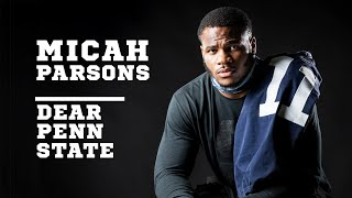 Penn State LB Micah Parsons opts out of 2020 Big Ten Season. Declares for 2021 NFL Draft.